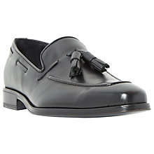 Buy Dune Black Rivers Double Tassel Leather Loafers, Black Online at johnlewis.com