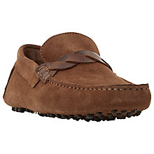Buy Bertie Bazel Contrast Saddle Trim Suede Driving Loafers Online at johnlewis.com