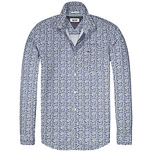 Buy Hilfiger Denim Floral Print Slim Fit Shirt, Grey Dawn Online at johnlewis.com