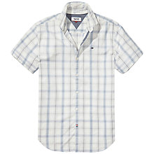 Buy Hilfiger Denim Basic Check Short Sleeve Shirt, Marshmallow Multi Online at johnlewis.com
