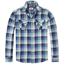 Buy Hilfiger Denim Check Shirt, Colonial Blue Multi Online at johnlewis.com