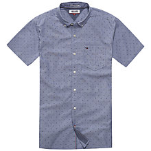 Buy Hilfiger Denim Printed Short Sleeve Shirt, Black Iris Online at johnlewis.com
