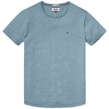 Buy Hilfiger Denim Crew Neck Cotton Knit T-Shirt, Colonial Blue Online at johnlewis.com