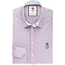 Buy Thomas Pink Peerson Team GB Stripe Shirt, White/Red Online at johnlewis.com