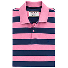 Buy Thomas Pink Harmer Stripe Polo Shirt, Pink/Navy Online at johnlewis.com
