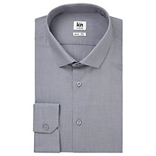 Buy Kin by John Lewis Norden End on End Cotton Slim Fit Shirt, Grey Online at johnlewis.com