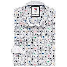 Buy Thomas Pink Tomkins Team GB Print Slim Fit Shirt, White/Multi Online at johnlewis.com