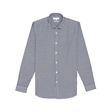 Buy Reiss Silver Slim Fit Dogtooth Shirt, Navy/White Online at johnlewis.com