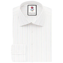 Buy Thomas Pink Addinsell Team GB Stripe Shirt, White/Multi Online at johnlewis.com