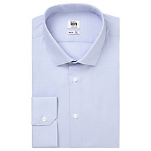 Buy Kin by John Lewis Archer Micro Puppytooth Slim Fit Shirt, Blue Online at johnlewis.com