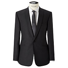 Buy Kin by John Lewis Lux Nobel Jacquard Slim Fit Suit Jacket, Charcoal Online at johnlewis.com