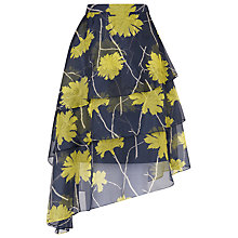 Buy L.K. Bennett Silk Lyra Skirt, Green Online at johnlewis.com