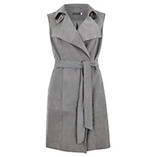 Buy Mint Velvet Dove Suede Waistcoat, Grey Online at johnlewis.com