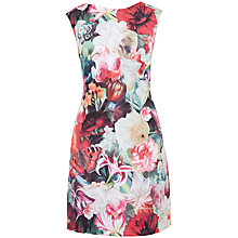 Buy Ted Baker Quais Floral Swirl Tunic Dress, Fuschia Online at johnlewis.com