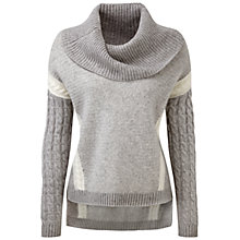 Buy Pure Collection Luxury Cashmere Cowl Neck Sweater, Heather Dove/Soft White Online at johnlewis.com