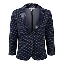 Buy Pure Collection Dalebury Jersey Blazer, Navy Spot Online at johnlewis.com
