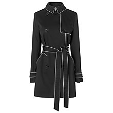 Buy L.K. Bennett Colette Belted Trench Coat, Black Online at johnlewis.com