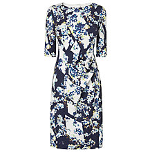 Buy L.K. Bennett Crystal Printed Fitted Dress, Blue Online at johnlewis.com