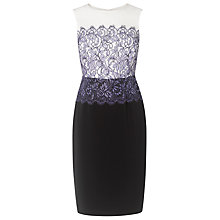 Buy L.K. Bennett Deedee Lace Detail Dress, Blue Online at johnlewis.com