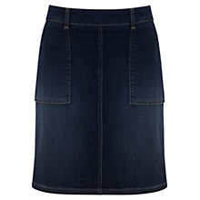 Buy Mint Velvet Patch Pocket Mini Skirt, Blue Online at johnlewis.com
