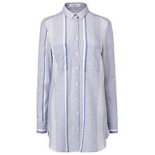 Buy L.K. Bennett Ruth Woven Top, Blue Online at johnlewis.com
