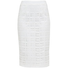 Buy Ted Baker Serenti Lace Overlay Geo Midi Skirt, Cream Online at johnlewis.com