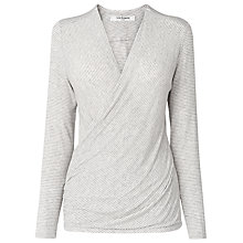 Buy L.K. Bennett Moya Jersey Top, Grey Online at johnlewis.com