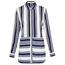 Buy Whistles Cut About Casual Stripe Shirt, Multi Online at johnlewis.com