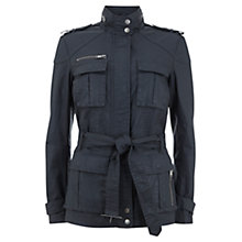 Buy Mint Velvet Belted Waxed Jacket, Smoke Online at johnlewis.com