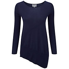 Buy Pure Collection Bilton Featherweight Cashmere Seamed Sweater, Navy Online at johnlewis.com