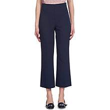 Buy Whistles Selby Cropped Kick Flare, Navy Online at johnlewis.com