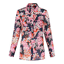Buy Whistles Wild Floral Voile Shirt, Multi Online at johnlewis.com