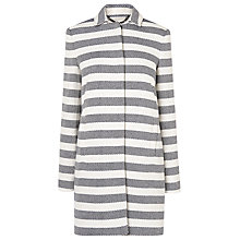 Buy L.K. Bennett Arca Striped Coat, Blue Online at johnlewis.com