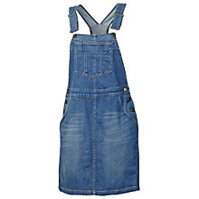 Buy Fat Face Denim Pinafore Dress, Mid Denim Online at johnlewis.com