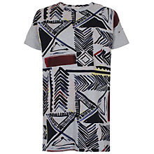 Buy French Connection Empire Grid Dress, Grey Mel Multi Online at johnlewis.com