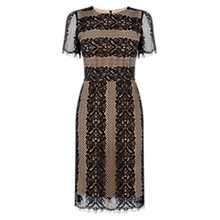 Buy Oasis Striped Lace Dress, Multi/Black Online at johnlewis.com