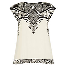 Buy Oasis Deco Wrap Back T-Shirt, Multi/Neutral Online at johnlewis.com