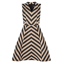 Buy Oasis Striped Fit Flare Dress, Multi/Black Online at johnlewis.com