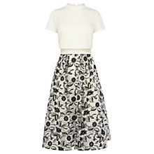 Buy Coast Sharon Floral Skirt Dress, Mono Online at johnlewis.com