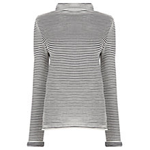 Buy Warehouse Ottoman Stripe Jumper, Black Online at johnlewis.com