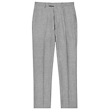 Buy Reiss Roman Herringbone Weave Linen Slim Fit Suit Trousers, Grey Online at johnlewis.com