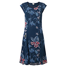 Buy East Floral Print Dress, Blue Online at johnlewis.com