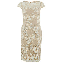 Buy Gina Bacconi Dainty Floral Tonal Metallic Net Dress, Gold Online at johnlewis.com