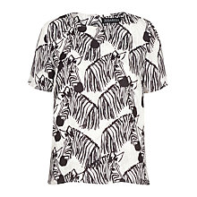Buy Sugarhill Boutique Lola Zebra Cross T-Shirt, Black/White Online at johnlewis.com