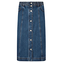 Buy East Button Denim Skirt, Blue Online at johnlewis.com