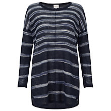 Buy East Space Dye Linen Jumper, Navy Online at johnlewis.com