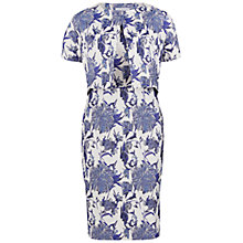 Buy Gina Bacconi Jacquard Dress And Unlined Jacket, Blue Online at johnlewis.com