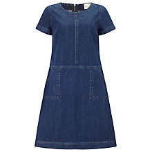 Buy East Seam Detail Denim Dress, Navy Online at johnlewis.com