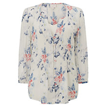 Buy East Wednesday Pintuck Blouse, White Online at johnlewis.com