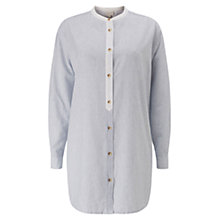 Buy East Stripe Shirt, Sky Online at johnlewis.com